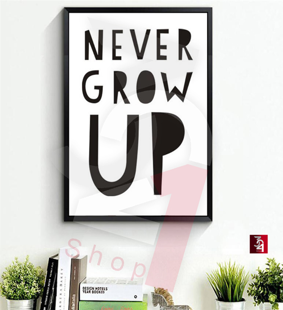 تایپوگرافی never grow up